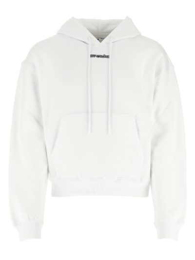OFF-WHITE – MARKER OVER HOODIE WHITE BLUE