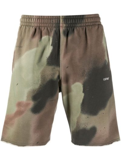 OFF-WHITE – CAMO STENCIL SWEATSHORTS CAMO WHITE