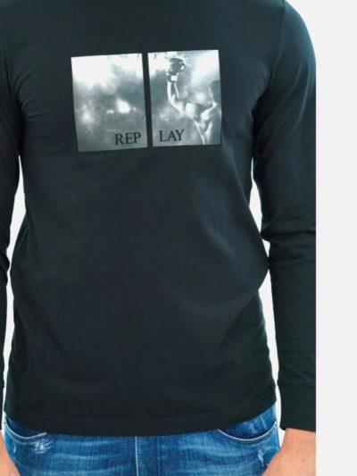 REPLAY – l/s lycra t-shirt
