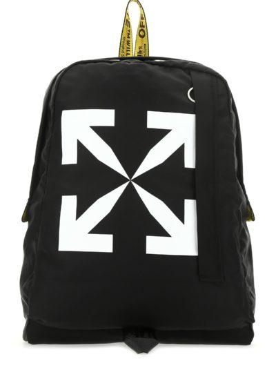 OFF-WHITE – Black nylon backpack