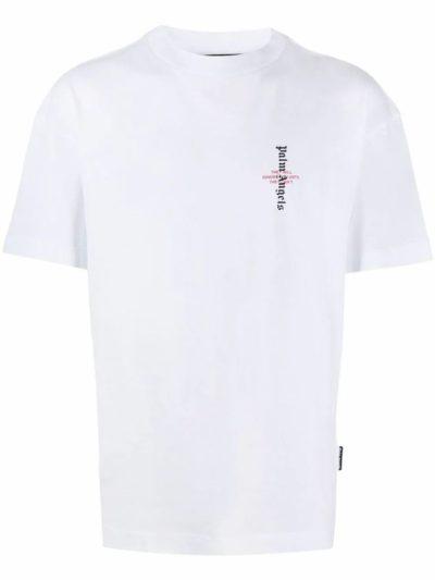 PALM ANGELS – Statement Logo Cotton T-shirt