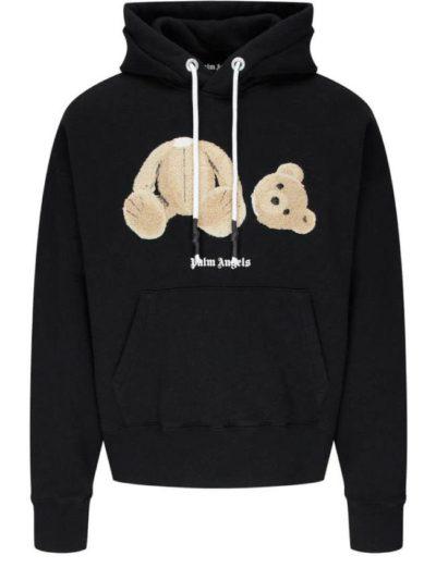 PALM ANGELS – teddy-print hoodie