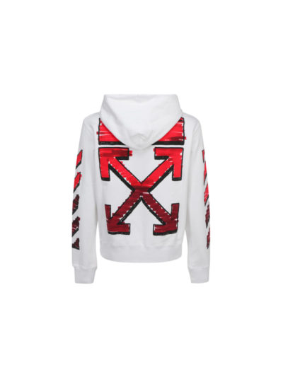 OFF-WHITE – marker slim hoodie white red