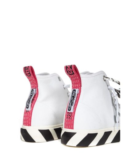 OFF-WHITE – mid top vulcanized canvas white grey