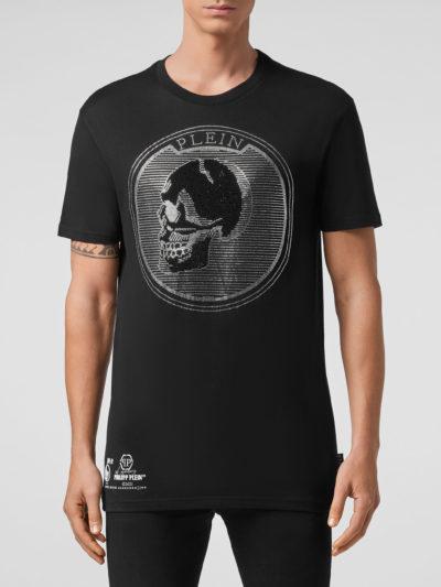 PHILIPP PLEIN – t-shirt round neck ss outline skull crystal