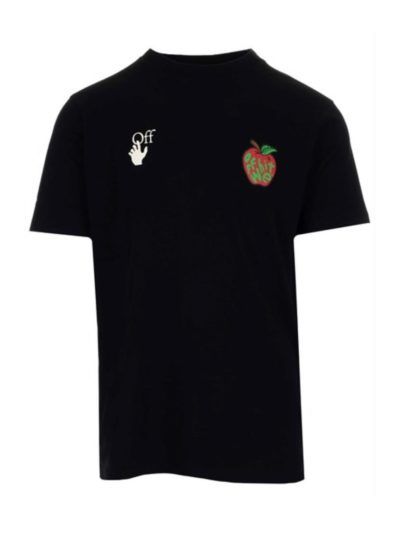 OFF WHITE – apple s/s slim tee black red