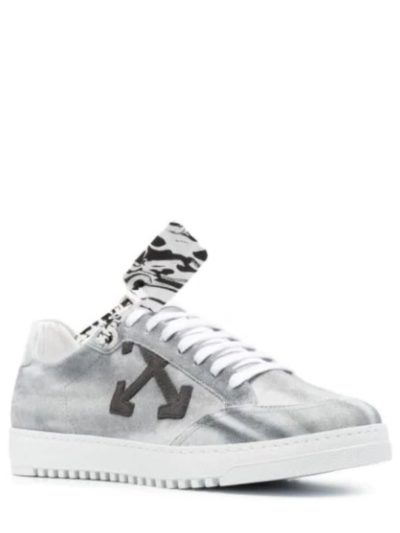 OFF-WHITE – 2.0 cow suede sneakers beige blue