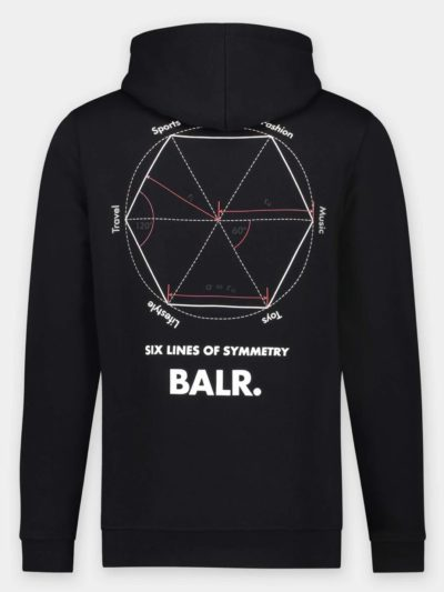 BALR – OLAF STRIGHT SYMMETRY HOODIE JET BLACK