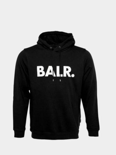 BALR – BRAND STRAIGHT HOODIE JET BLACK