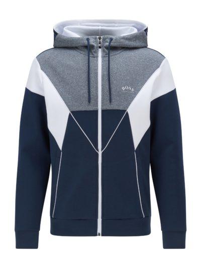 HUGO BOSS – Colour-blocked hooded sweatshirt