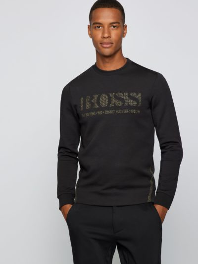 HUGO BOSS – Slim-fit crew-neck sweatshirt