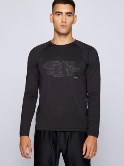 HUGO BOSS – Plated-jersey logo T-shirt
