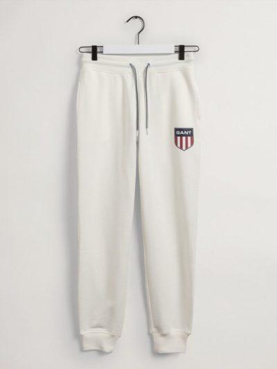 GANT – Retro Shield Sweatpants מכנס טרנינג בצבע לבן דגם