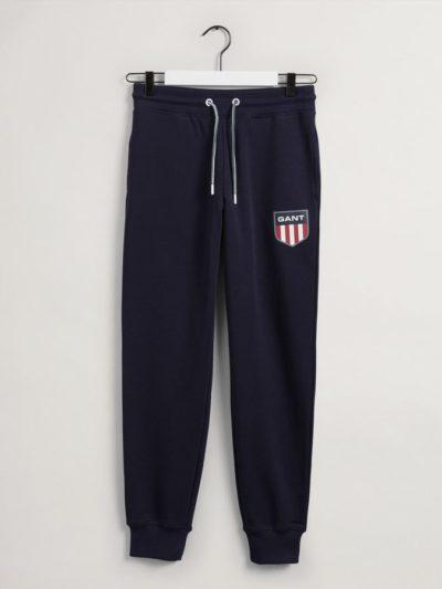 GANT – Retro Shield Sweatpants מכנס טרנינג בצבע כחול דגם