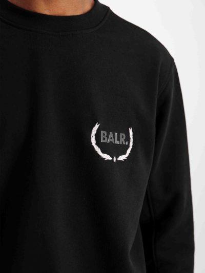 BALR – JULES SLIM CREWNECK JET BLACK