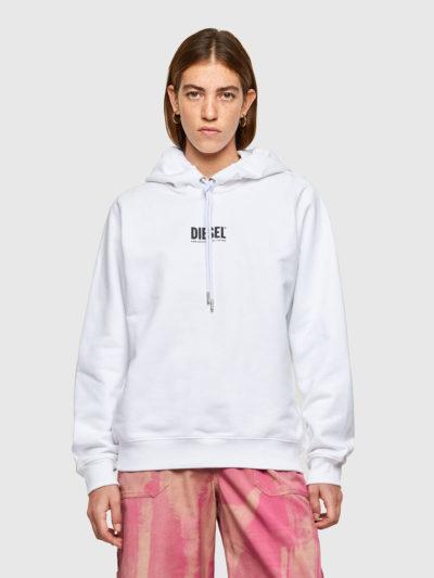 DIESEL – קפוצ'ון בצבע לבן דגם F-ANG-HOOD-SMALLOGO