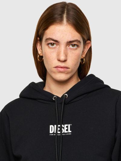 DIESEL – קפוצ'ון בצבע שחור דגם F-ANG-HOOD-SMALLOGO