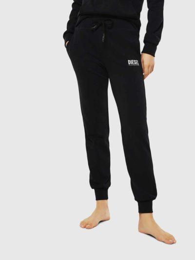 DIESEL – מכנס טרנינג בצבע שחור דגם UFLB-VICTADIA TROUSERS