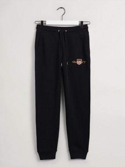 GANT – ARCHIVE SHIELD SWEAT PANT מכנס טרנינג בצבע שחור  דגם