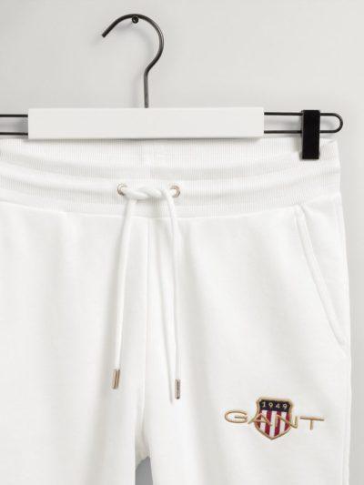 GANT – ARCHIVE SHIELD SWEAT PANT מכנס טרנינג בצבע לבן דגם