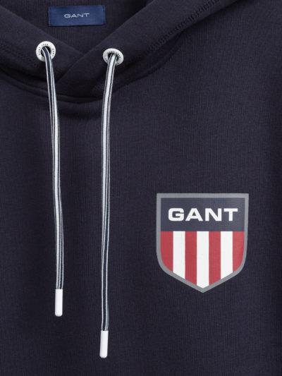 GANT – RETRO SHEILD HOODIE קפוצ'ון בצבע כחול דגם