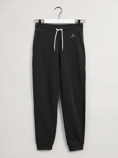GANT – מכנס טרנינג בצבע שחור דגם LOCK UP SWEAT PANTS