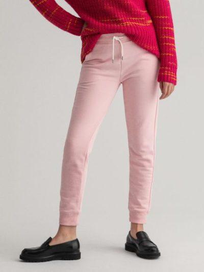 GANT – מכנס טרנינג בצבע ורוד דגם LOCK UP SWEAT PANTS