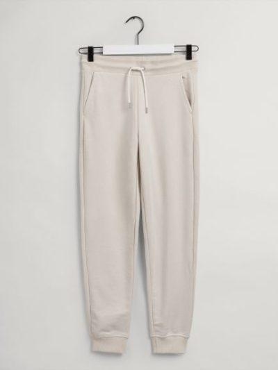 GANT – מכנס טרנינג בצבע בז' דגם LOCK UP SWEAT PANTS