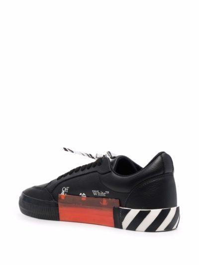 נעליים בצבע שחור דגם OFF-WHITE – LOW VULCANIZED CALF LEATHE BLACK WHITE