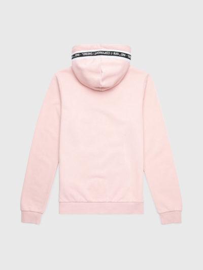 DIESEL – קפוצ'ון חליפה בצבע ורוד UFLT-BRANDAL-SWEATSHIRT