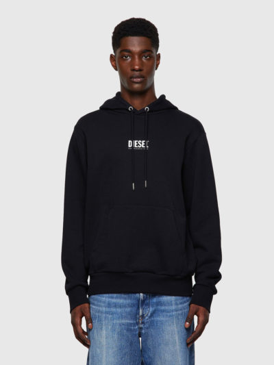 DIESEL – קפוצ'ון בצבע שחור דגם S-GIRK-HOOD-SMALLOGO