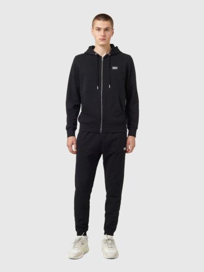 DIESEL – קפוצ'ון בצבע שחור דגם S-GIRK-HOOD-ZIP-B2