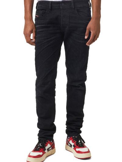 DIESEL – ג'ינס בצבע שחור דגם SLEENKER 09A75
