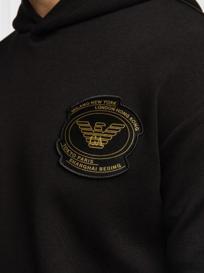 EMPORIO ARMANI – קפוצ'ון בצבע שחור דגם 6K1M72 1JHSZ