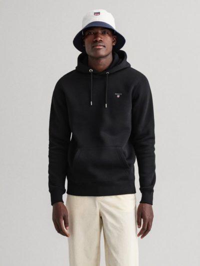GANT – קפוצ'ון בצבע שחור דגם ORIGINAL SWEAT HOODIE