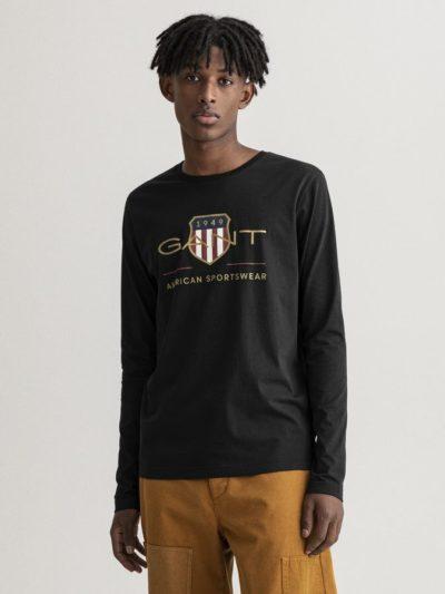 GANT – טישרט ארוך בצבע שחור דגם ARCHIVE SHIELD LS