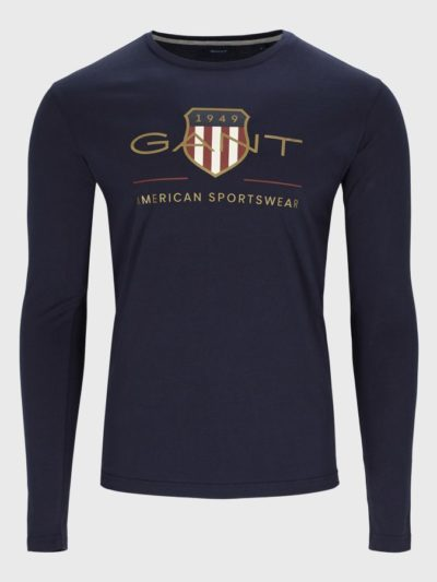 GANT – טישרט ארוך בצבע כחול דגם ARCHIVE SHIELD LS