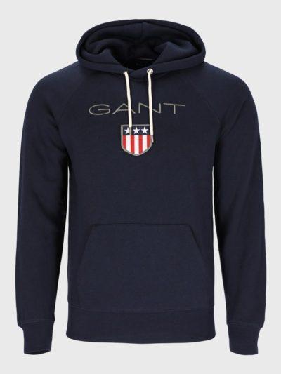 GANT – קפוצ'ון בצבע כחול דגם SHIELD HOODIE