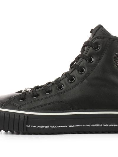 KARL LAGERFELD – נעליים קארל לגרפלד בצבע שחור דגם IKON MIKROSTUD HI