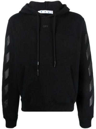 OFF-WHITE – קפוצ'ון בצבע שחור דגם RUBBER ARROW