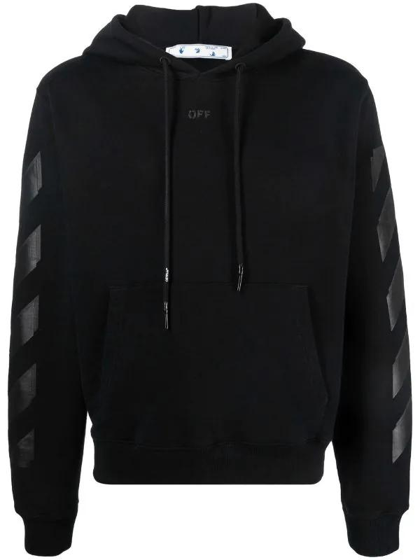 OFF-WHITE - קפוצ'ון בצבע שחור דגם RUBBER ARROW