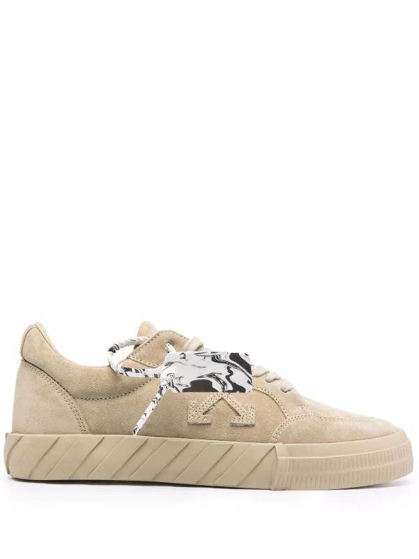 OFF-WHITE - נעליים בצבע בז' דגם LOW TOP VULCANIZED SNEAKERS