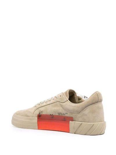 OFF-WHITE – נעליים בצבע בז' דגם LOW TOP VULCANIZED SNEAKERS