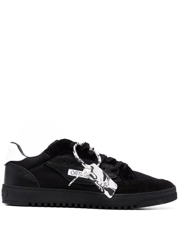 OFF-WHITE - נעליים בצבע שחור דגם 5.0 LOW TOP