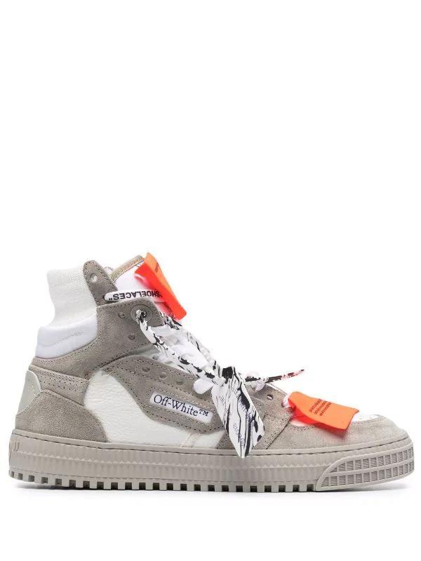 OFF-WHITE - נעליים בצבע ירוק זית דגם OFF COURT 3.0