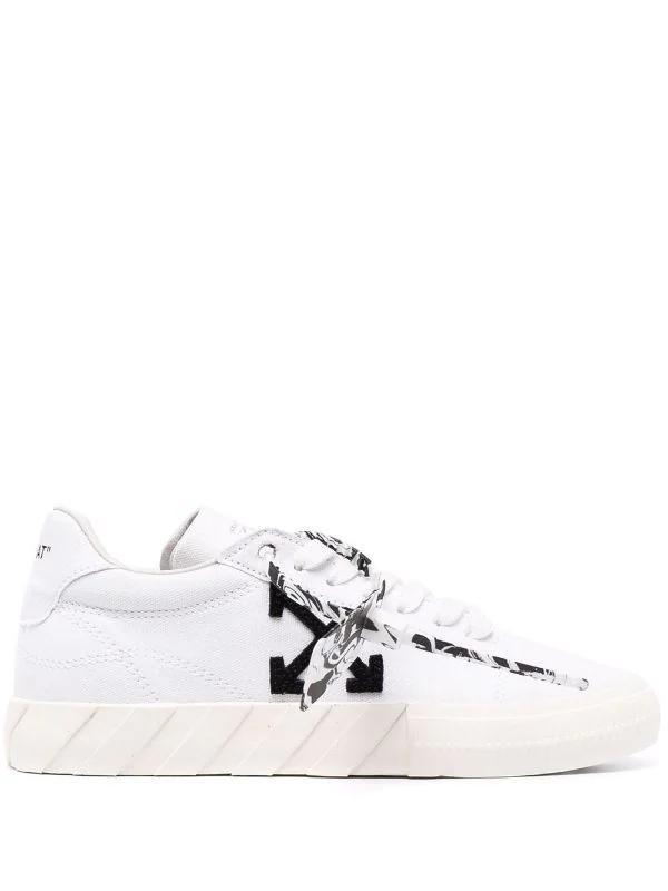 OFF-WHITE - נעליים בצבע לבן דגם ECO CANVAS WHITE BLACK