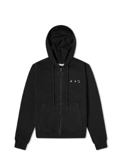 OFF-WHITE – קפוצ'ון בצבע שחור דגם OW ARROW LOGO