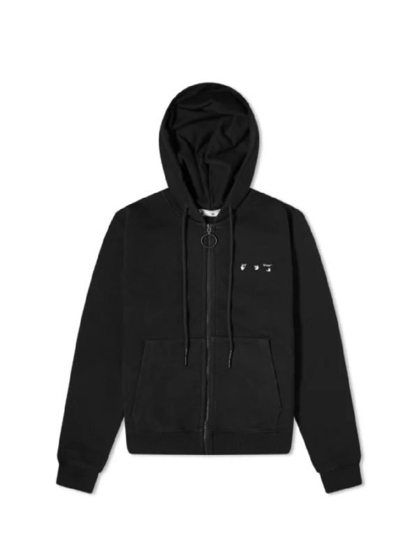 OFF-WHITE - קפוצ'ון בצבע שחור דגם OW ARROW LOGO