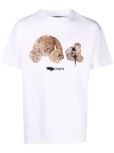 PALM ANGELS – טישרט בצבע לבן דגם BEAR PRINT