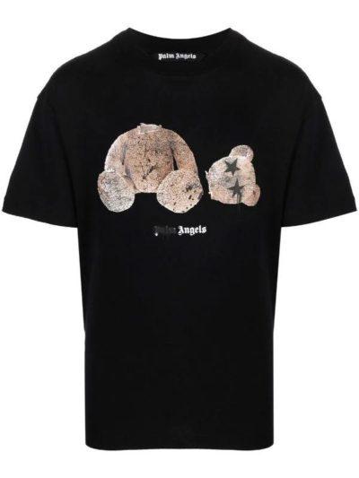 PALM ANGELS – טישרט בצבע שחור דגם BEAR PRINT